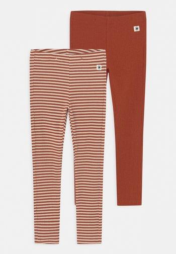 BASIC 2 PACK UNISEX - Leggings - Trousers - dark dusty orange