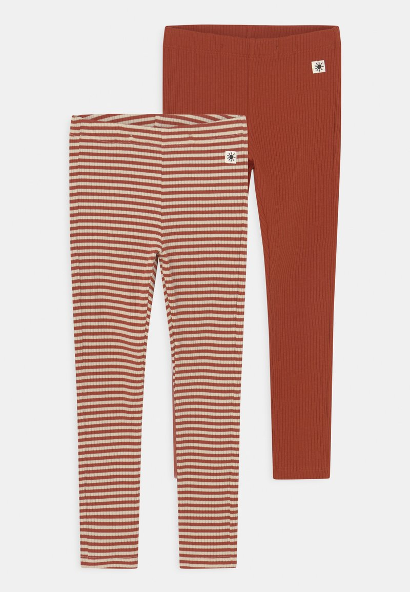 Lindex - BASIC 2 PACK UNISEX - Leggings - Trousers - dark dusty orange