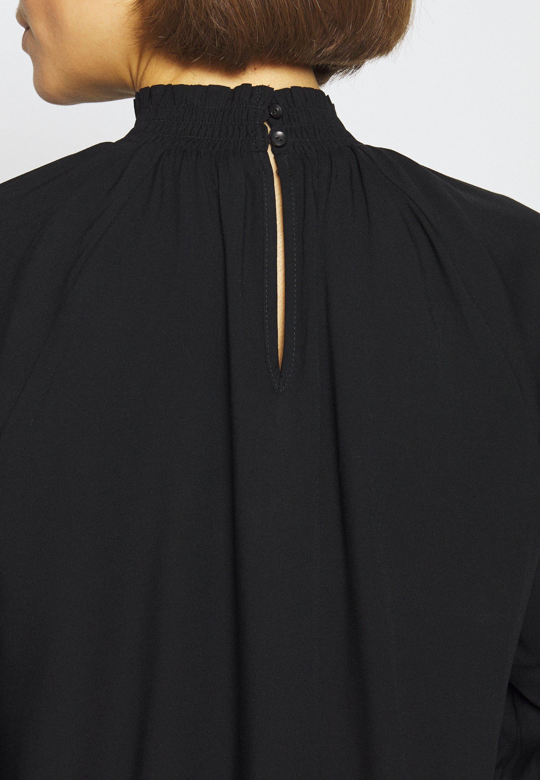 Cotton On MOCK NECK FRILL SLEEVE Blouse black Zalando.nl