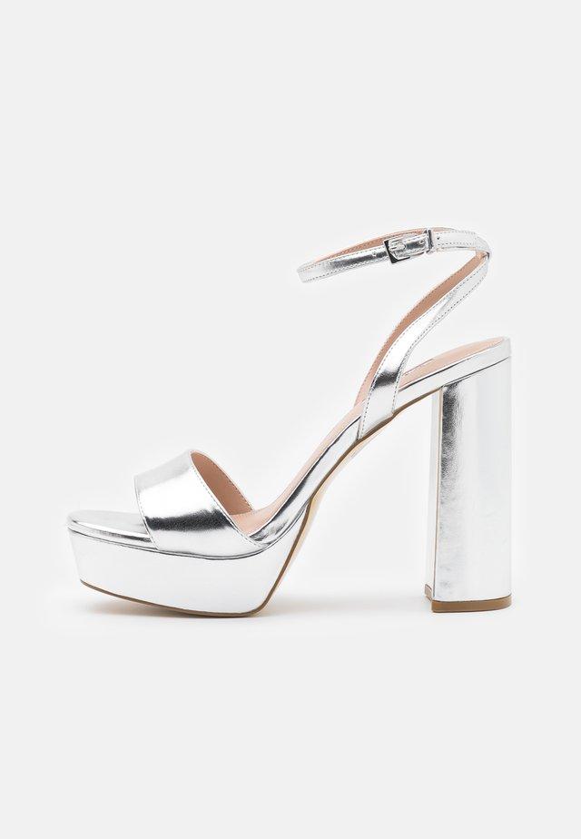 MALIN - High heeled sandals - silver