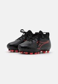 Diadora - BRASIL ELITE R LPU JR UNISEX - Moulded stud football boots - black/red fluo - 1
