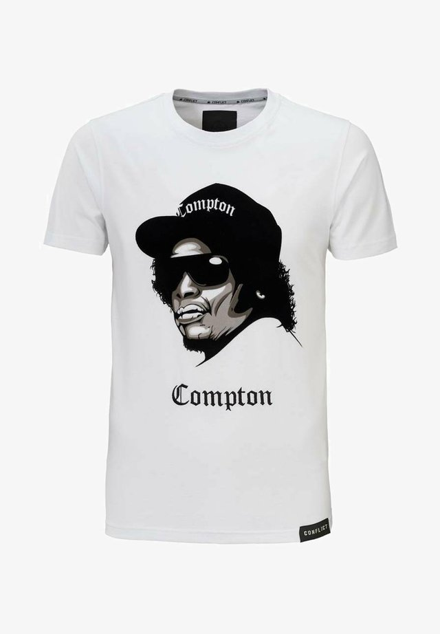 COMPTON - T-shirt print - white