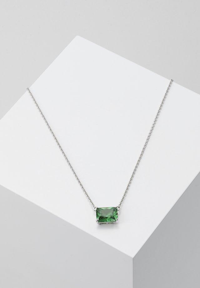 Necklace - silver-coloured/green