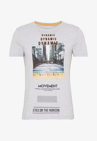 TOM TAILOR DENIM - FOTOPRINT ON STRIPED TEE - Print T-shirt - grey - 3