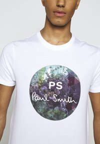 PS Paul Smith - MENS SLIM FIT CIRCLE - Print T-shirt - white - 6