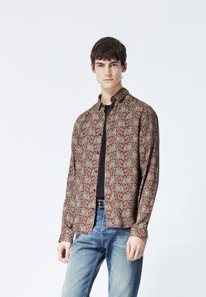 Shirt - burgundy/camel