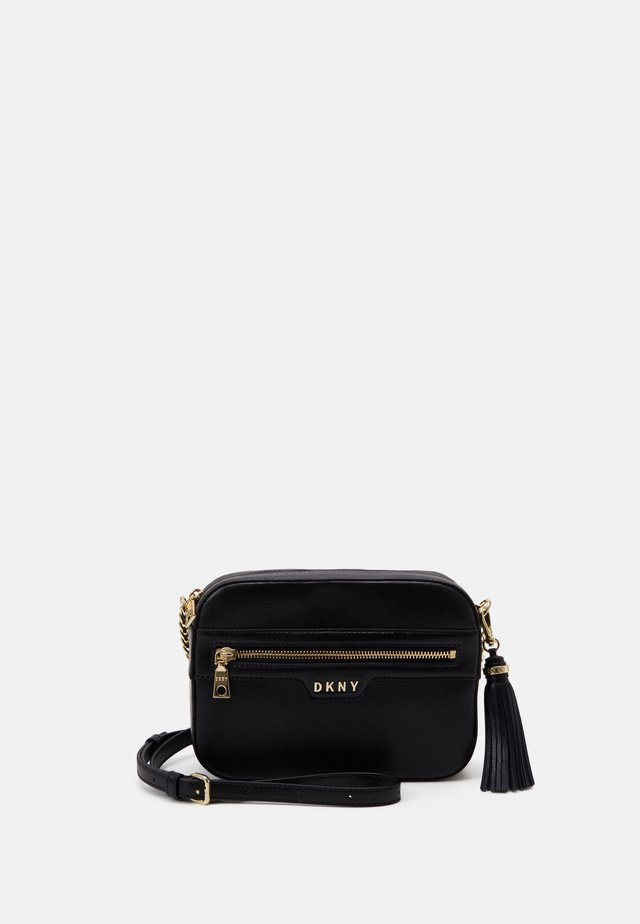 POLLY CAMERA BAG SUTTON - Across body bag - black/gold-coloured