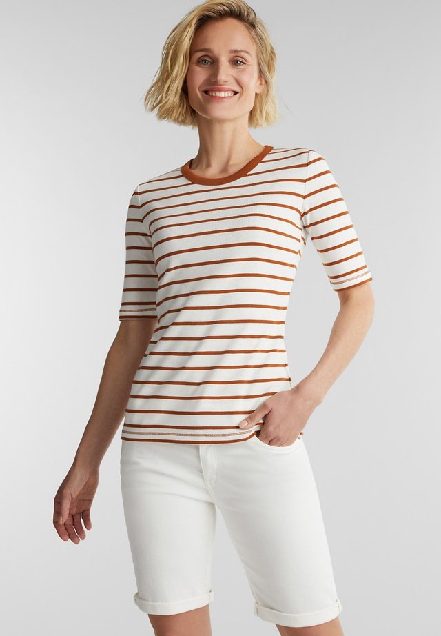 Print T-shirt - rust brown