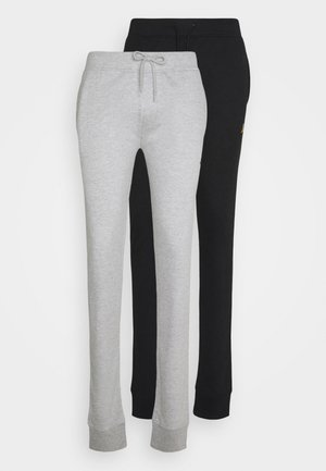 STAR 2 PACK - Tracksuit bottoms - black/grey