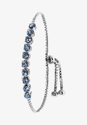 Armband - zilverkleurig/blauw