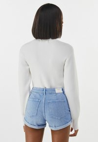 Bershka - Denim shorts - blue - 2