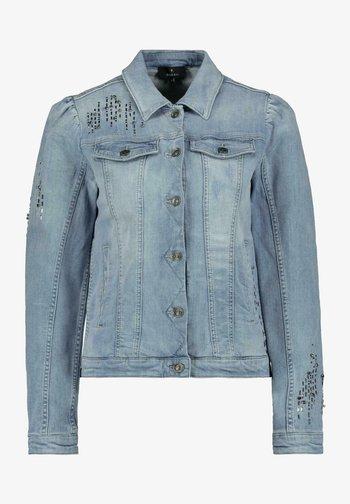 MIT SCHMUCKSTEINEN IN HELLBLAU - Denim jacket - jeans