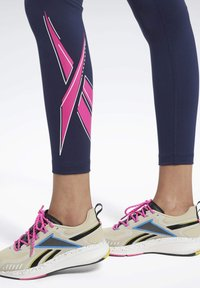 Reebok - WORKOUT READY VECTOR LEGGINGS - Tights - blue - 3
