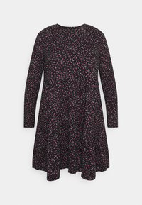 Simply Be - SOFT TOUCH TIERED SMOCK DRESS - Jerseykjole - dark red - 4