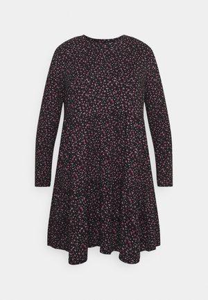 SOFT TOUCH TIERED SMOCK DRESS - Jersey dress - dark red