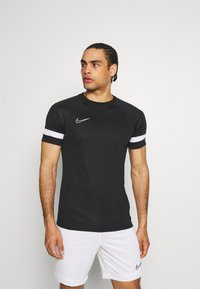 Nike Performance - ACADEMY 21 - T-shirt z nadrukiem - black/white - 0