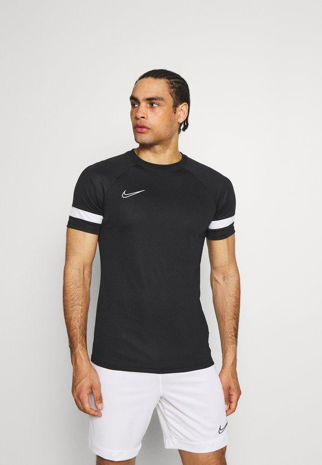 ACADEMY 21 - T-shirt imprimé - black/white