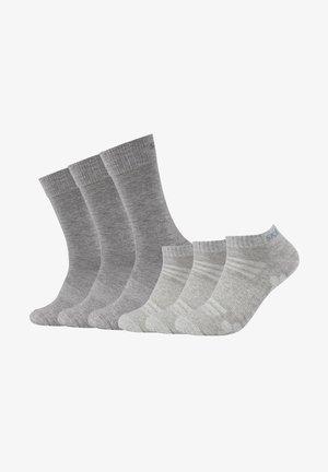 PACK OF 6 - Socks - light grey melange