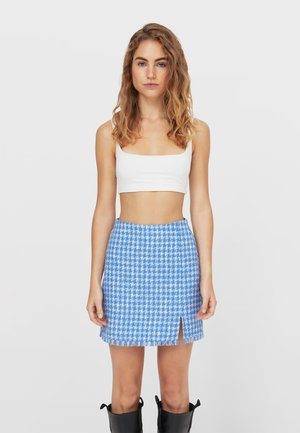 Mini skirt - mottled blue