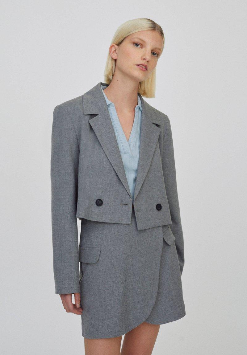 PULL&BEAR - Blazer - mottled light grey