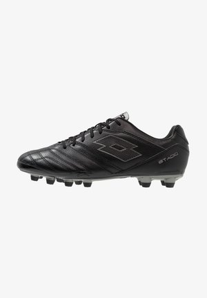 STADIO 300 II FG - Moulded stud football boots - all black/gravity titan