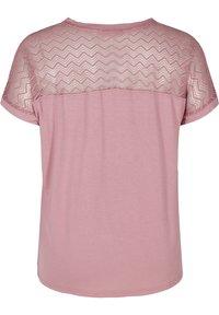 Zizzi - Print T-shirt - wistful mauve - 5