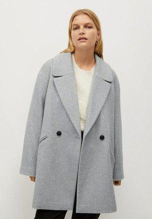 CRUZA - Short coat - hellgrau meliert