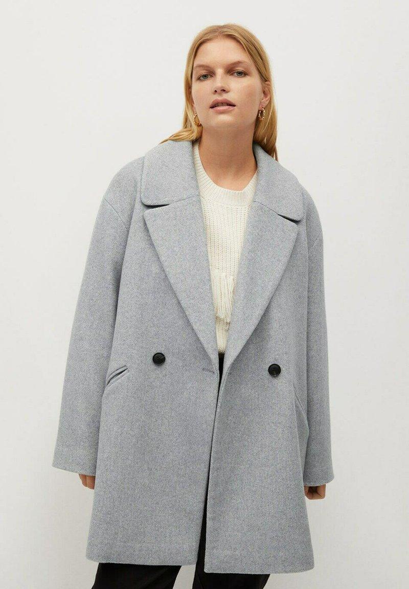 Violeta by Mango - CRUZA - Short coat - hellgrau meliert
