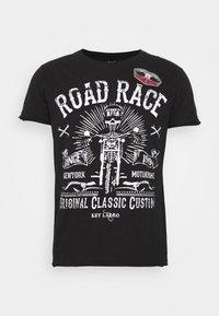 Key Largo - MOTORBIKE ROUND - T-shirt z nadrukiem - black - 4