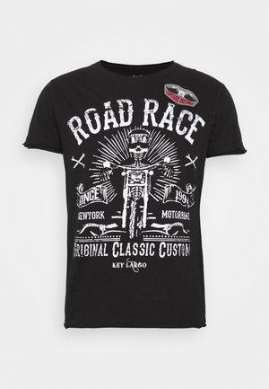MOTORBIKE ROUND - Print T-shirt - black