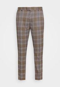 Topman - HERI CHECK - Pantalon de costume - brown - 5