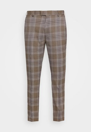HERI CHECK - Suit trousers - brown