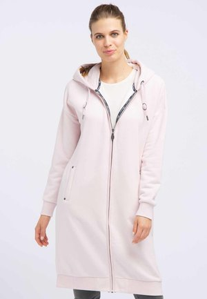 Zip-up hoodie - powder pink melange