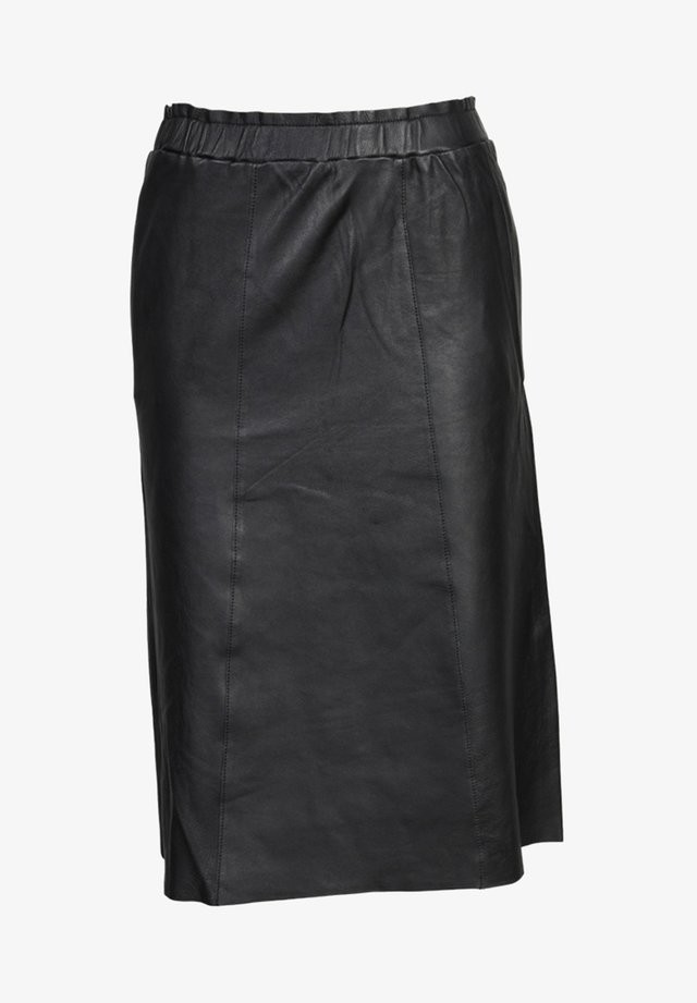 Leather skirt - black