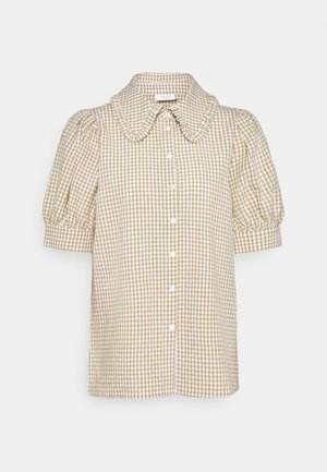 GINGHAM - Button-down blouse - beige sand
