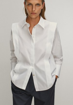 POPELIN - Button-down blouse - white