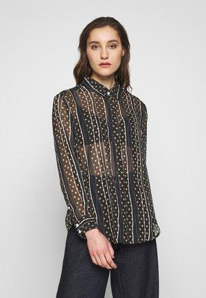 AIMEE - Button-down blouse - black/sand