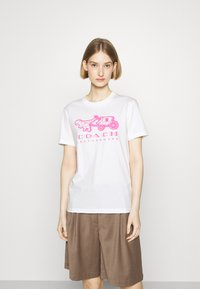 Coach - NEON HORSE AND CARRIAGE  - T-shirt con stampa - white - 0