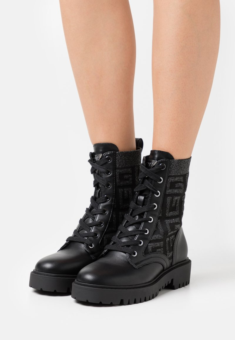 Guess - OLINIA - Lace-up ankle boots - black