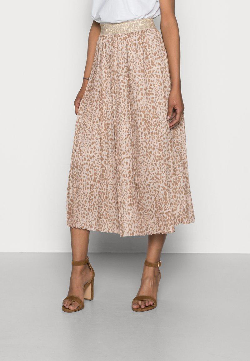 Rich & Royal - SKIRT PLISSEE - Pleated skirt - beige