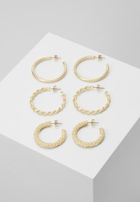 PCJOLINA EARRINGS 3 PACK - Náušnice - gold-coloured