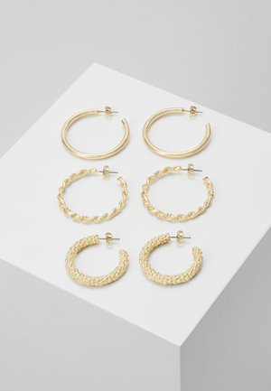 PCJOLINA EARRINGS 3 PACK - Ohrringe - gold-coloured