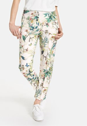 Trousers - off white ligh lime aloe druck