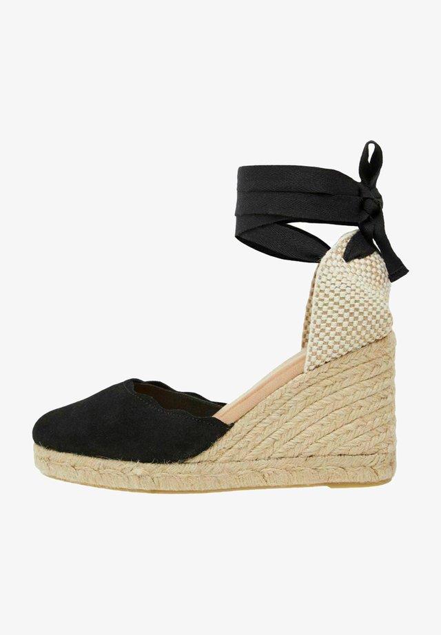 BIADEMI TIE STRAP  - Sandały na platformie - black