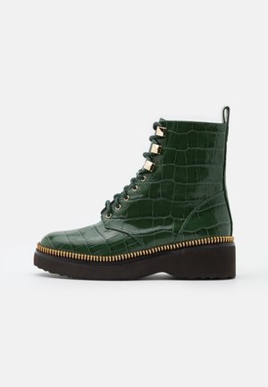HASKELL BOOTIE - Lace-up ankle boots - dark green