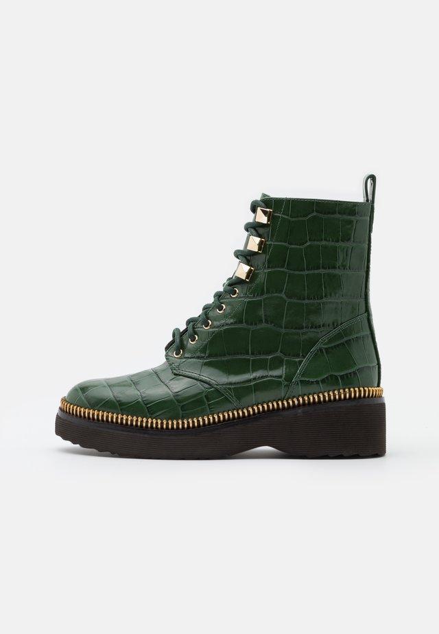 HASKELL BOOTIE - Platform ankle boots - dark green