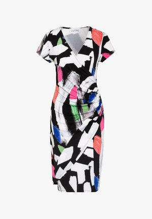 Shift dress - black/white/multi
