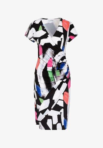 Shift dress - black/white/multi