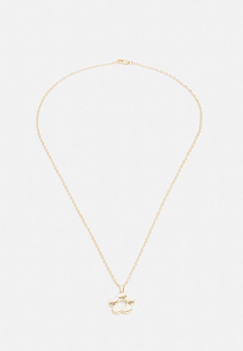 Uncommon Souls - FLOWER PENDANT NECKLACE UNISEX - Necklace - gold-coloured
