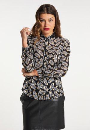 Košile - schwarz mehrfarbig